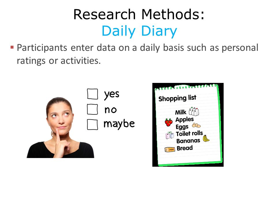 Research Methods: Daily Diary