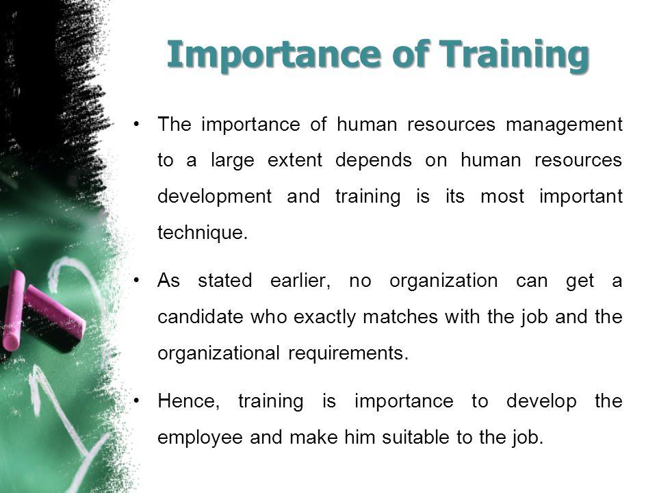the importance of human resource development
