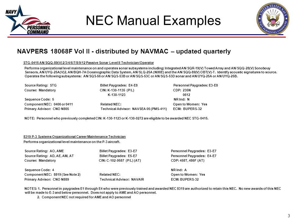 navy enlisted classification nec tutorial ppt download rh slideplayer com