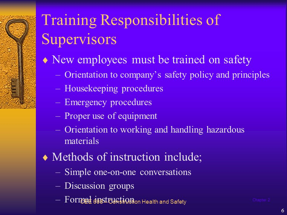 Training Responsibilities of Supervisors