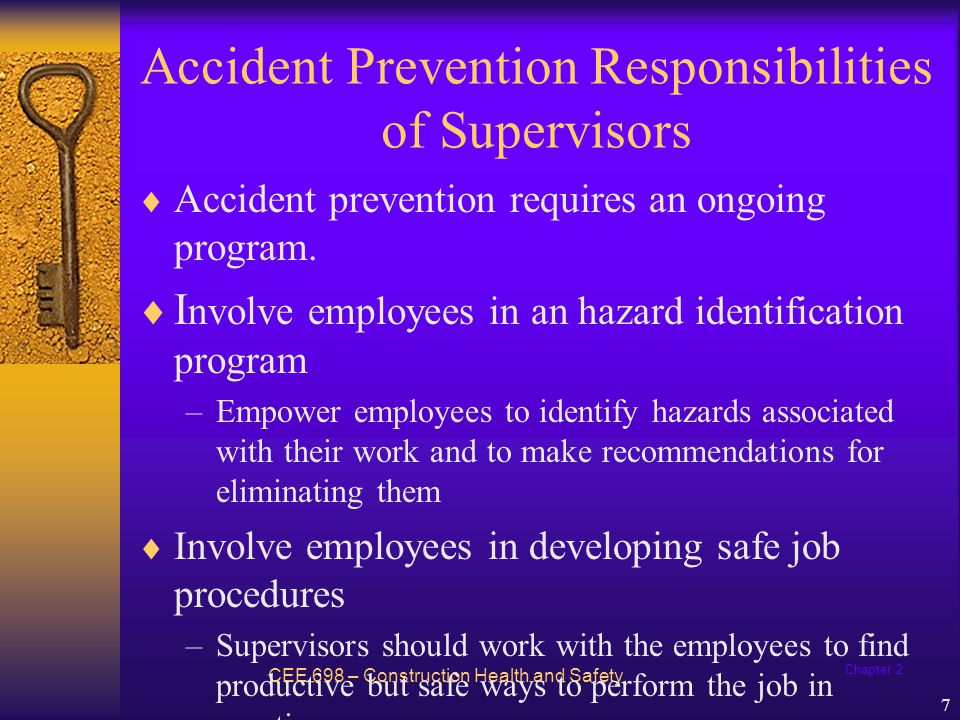 Accident Prevention Responsibilities of Supervisors