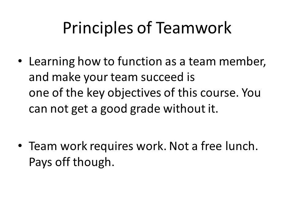 principles of teamwork ppt download