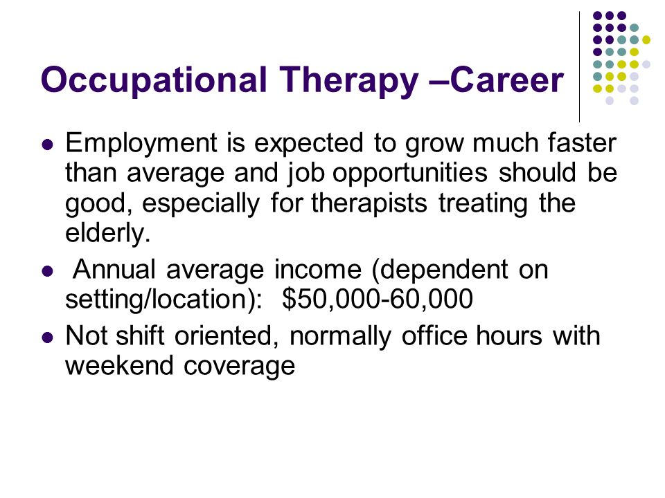 Occupational Therapy –Career