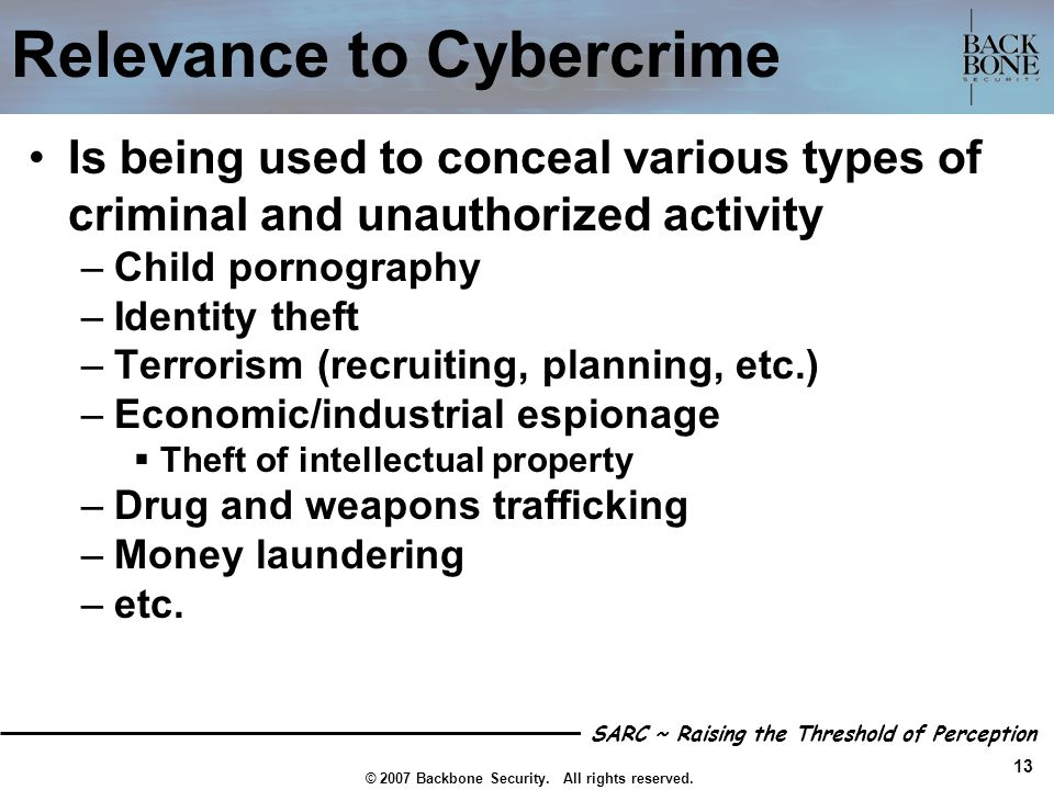 Relevance to Cybercrime