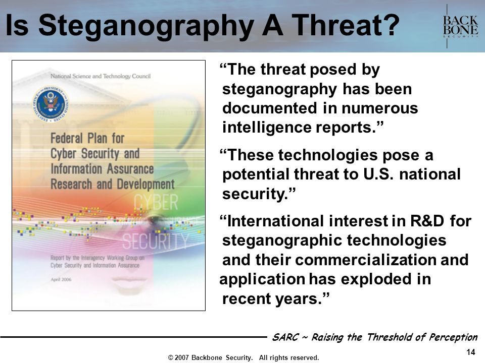 Is Steganography A Threat