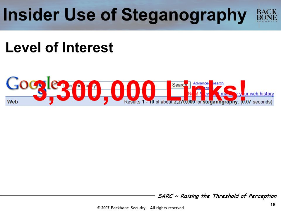 Insider Use of Steganography