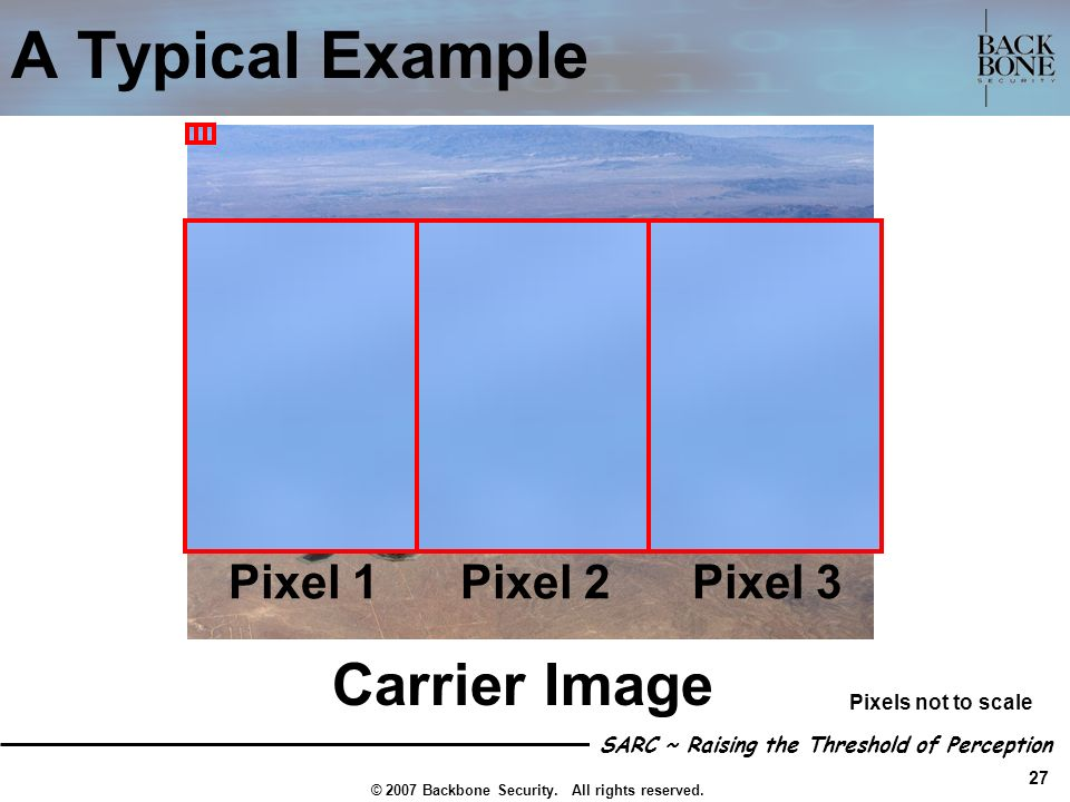 A Typical Example Carrier Image Pixel 1 Pixel 2 Pixel 3