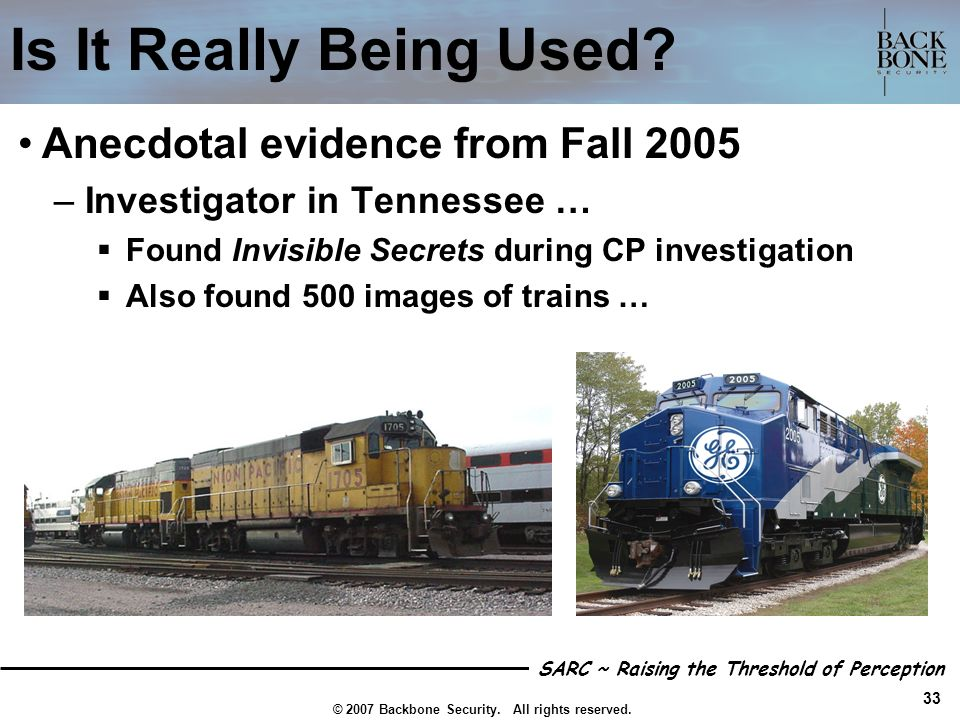 Is It Really Being Used Anecdotal evidence from Fall 2005