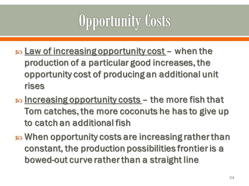 relationship between opportunity cost and production possibility curve