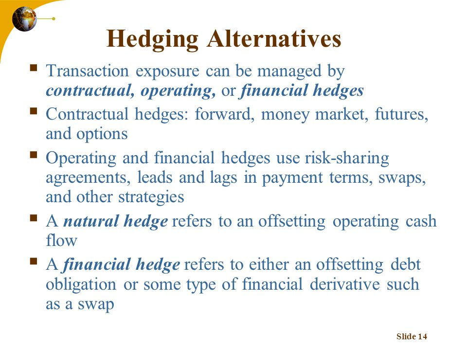14 Hedging Alternatives Transaction