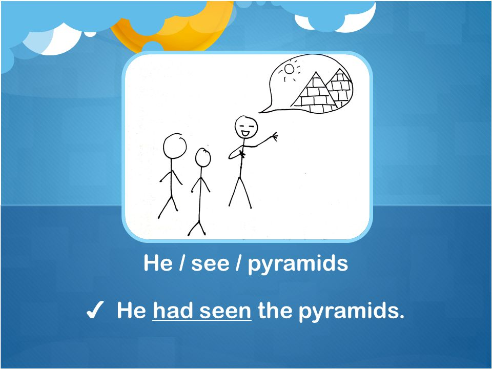 ✔ He had seen the pyramids.
