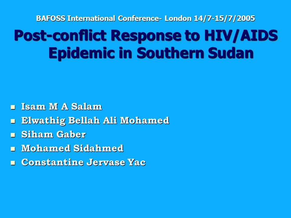 Prof  Mohamed Elfatih Baraka Presented to SDU meeting - ppt download