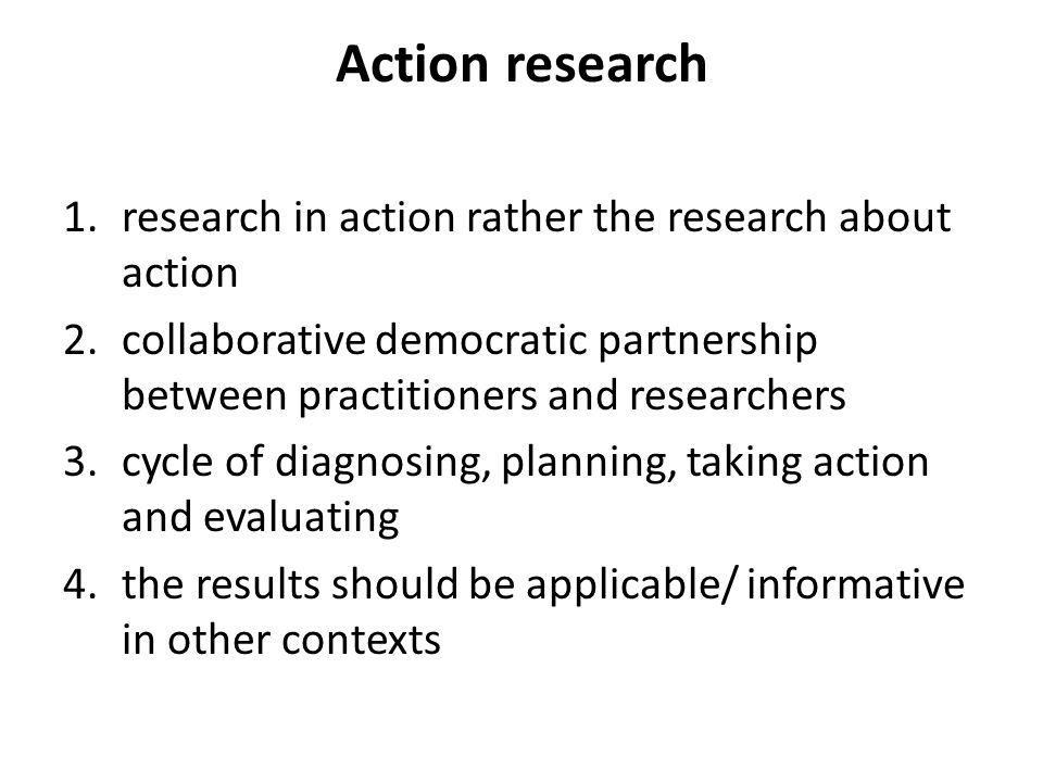 Action research research in action rather the research about action