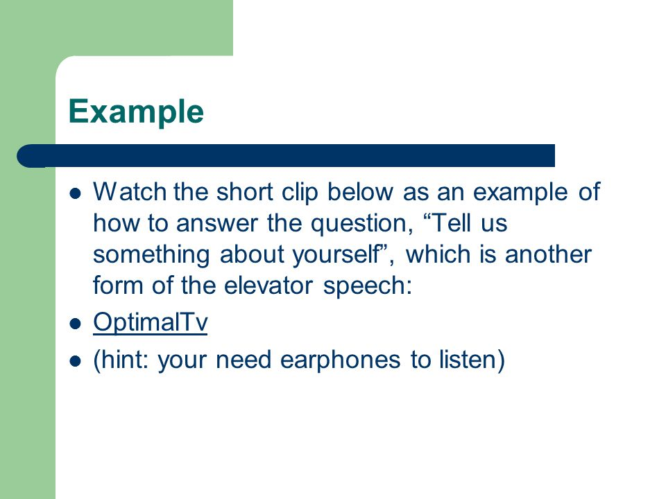 the elevator speech or pitch ppt download