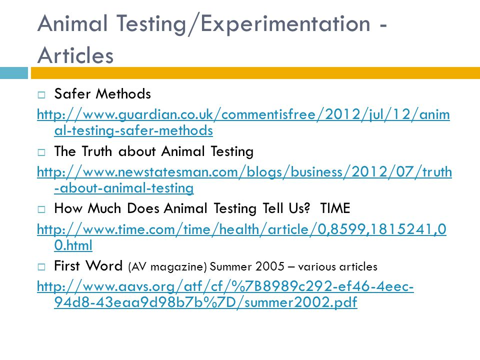 research paper animal experimentation essay English research paper chapter v summary, conclusions and recommendations summary and conclusions the study attempts to determine the different factors that influence the decisions of 2nd year college of business and accountancy students of the university of st la salle in choosing their major course.