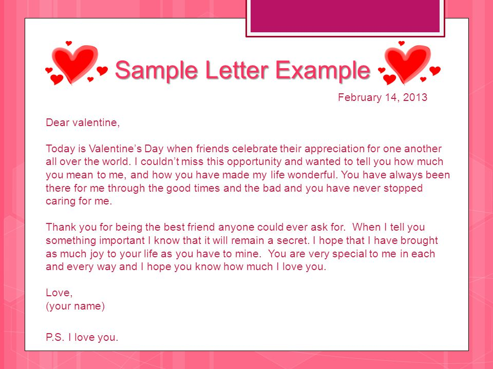 Valentine S Day Letter Ppt Download