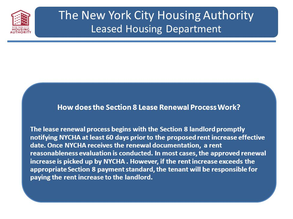 The New York City Housing Authority Leased Housing Department - ppt