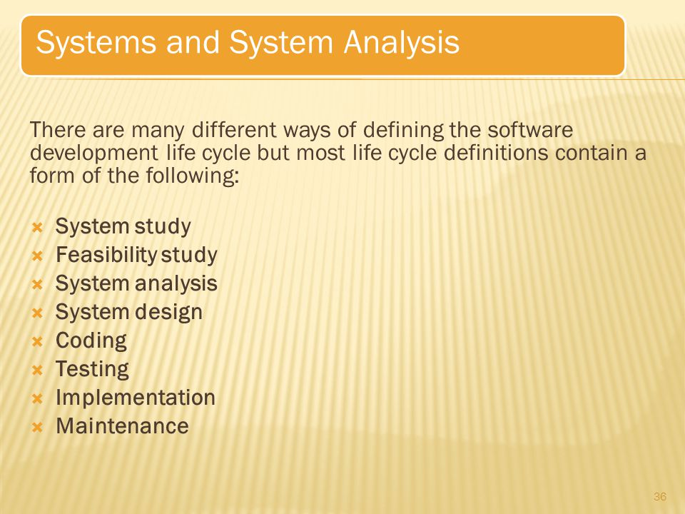 Systems and System Analysis