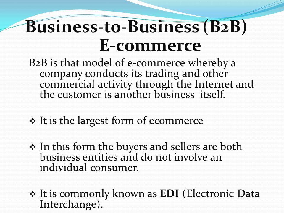 types of e commerce pdf