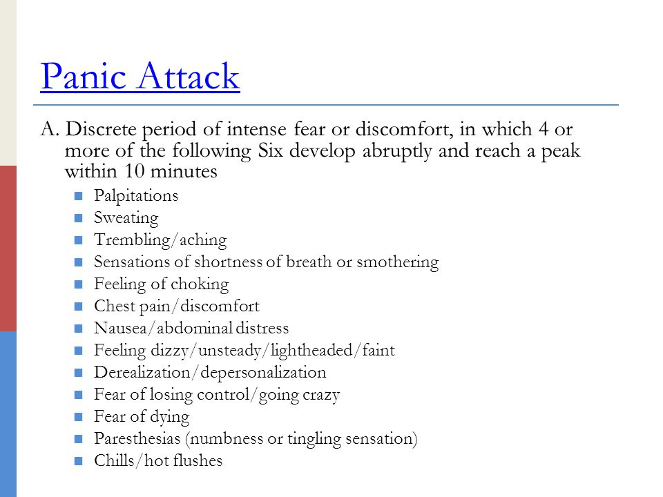 Anxiety Disorders Panic Disorder Agoraphobia Social Phobia - ppt