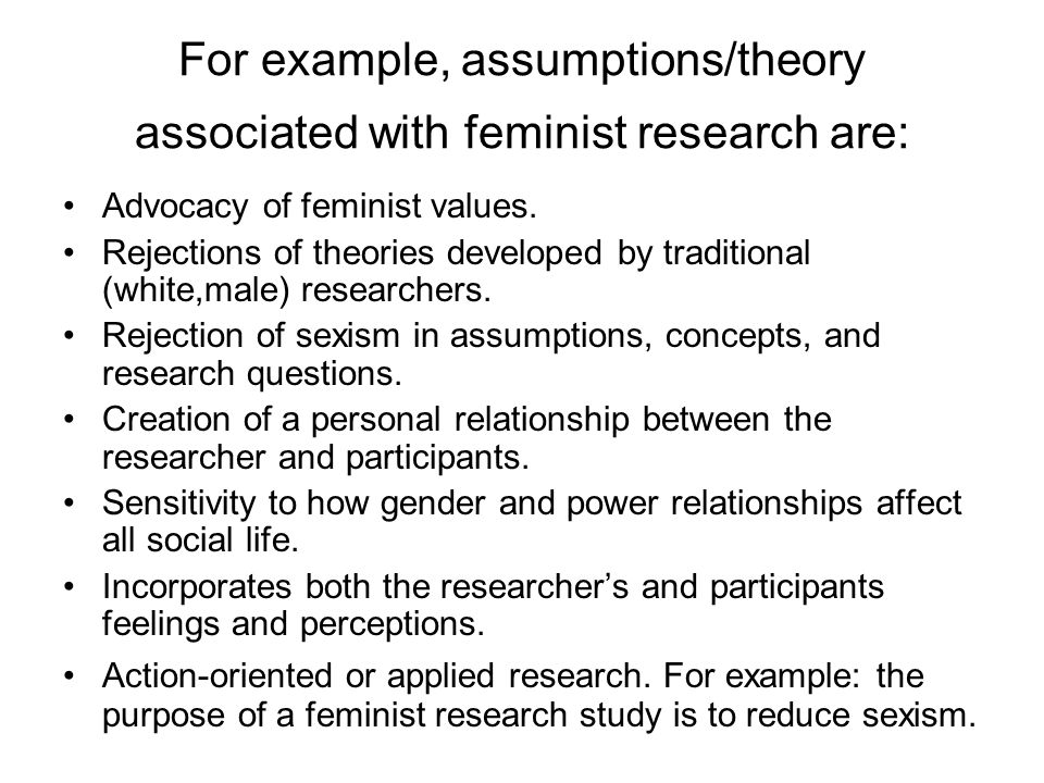 feminist research Feminist research essay examples msc marketing & strategy ib9x30 research methods for marketing & strategy individual assignment option b- critical analysis of: martin, dm, schouten, jw.