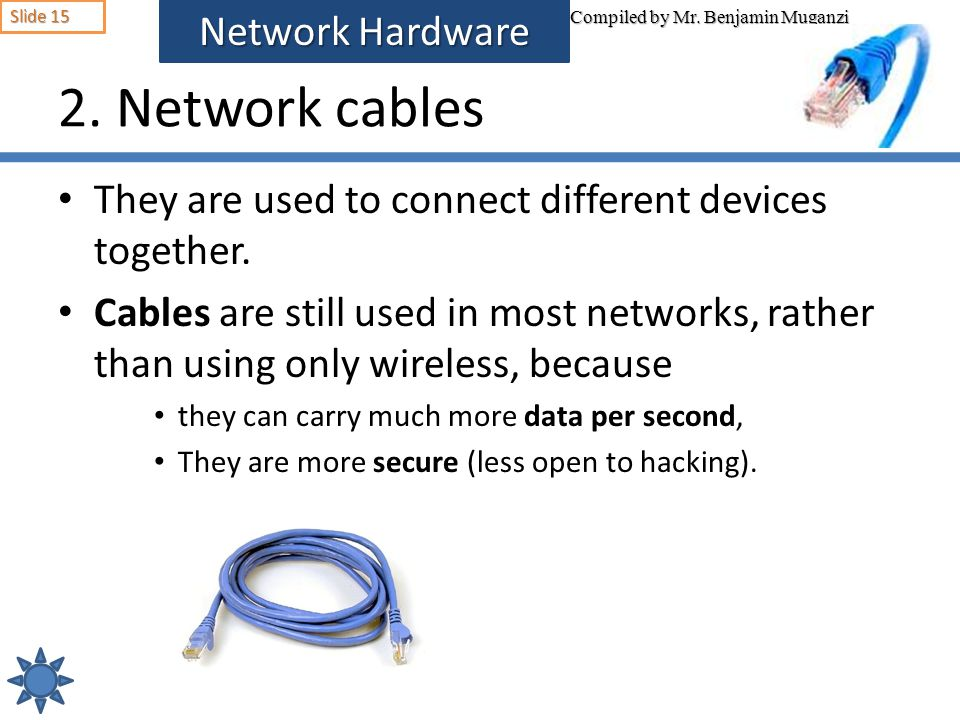 2. Network cables Network Hardware