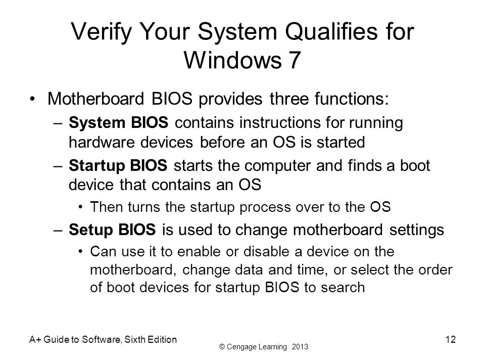Verify Your System Qualifies for Windows 7