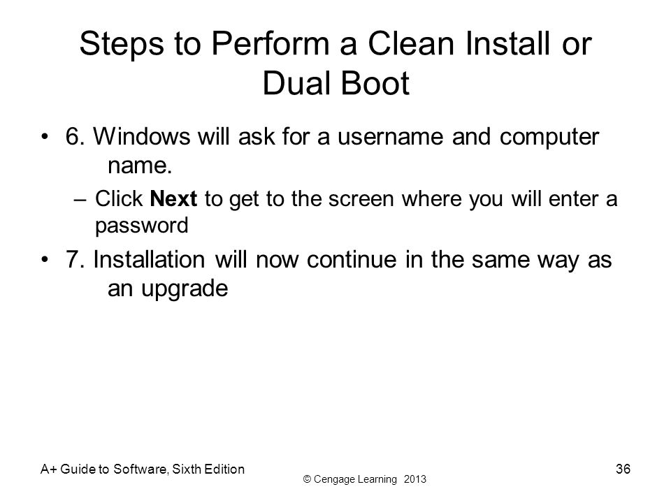 Steps to Perform a Clean Install or Dual Boot
