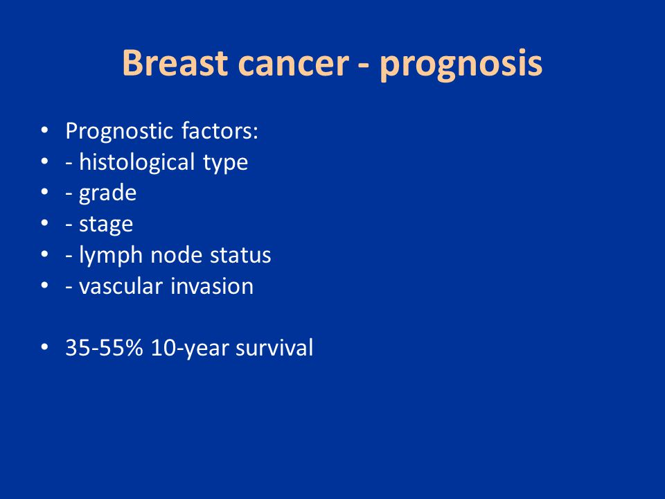 Breast cancer - prognosis