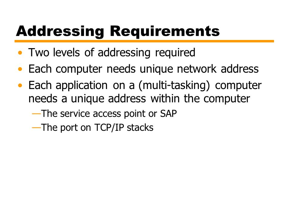 Addressing Requirements