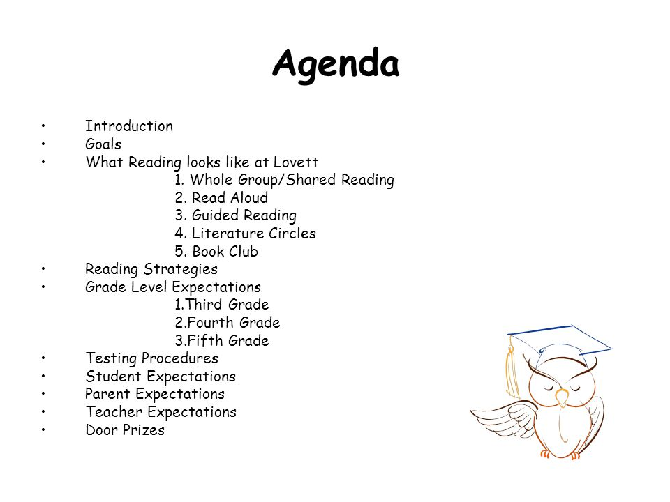 Agenda Introduction Goals What Reading looks like at Lovett