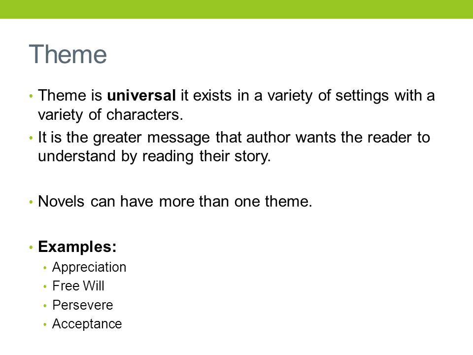 examples of theme in literature
