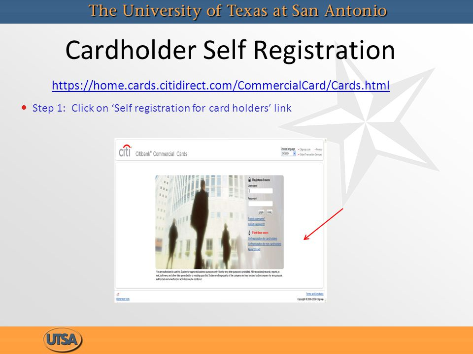 Cardholder Self Registration
