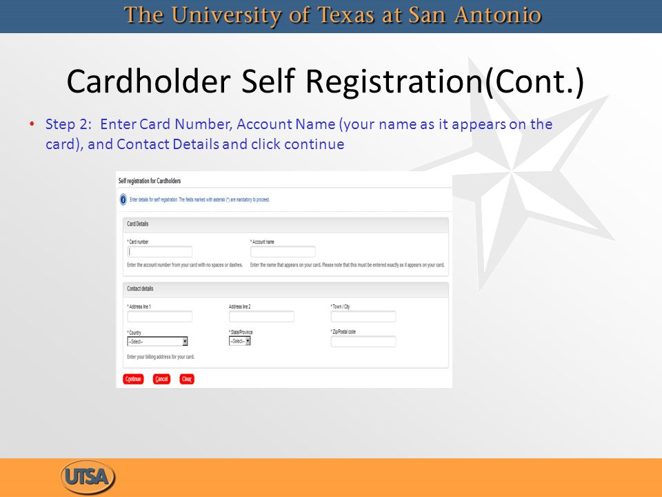 Cardholder Self Registration(Cont.)