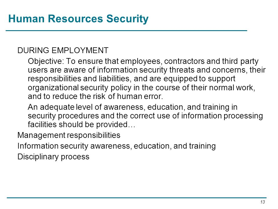 Human Resources Security