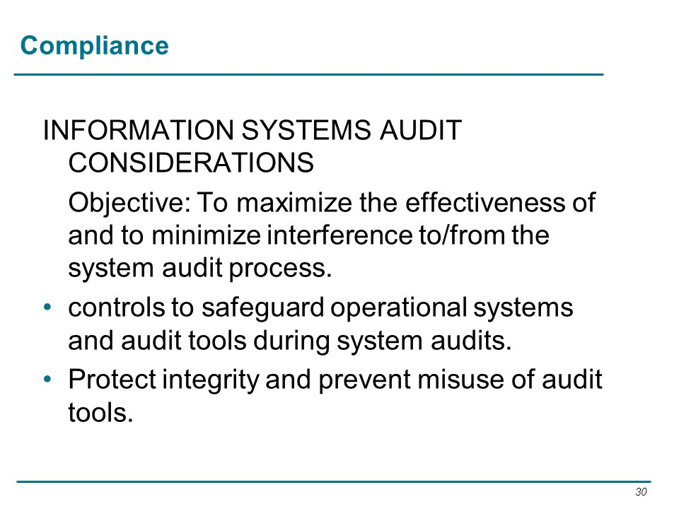 INFORMATION SYSTEMS AUDIT CONSIDERATIONS