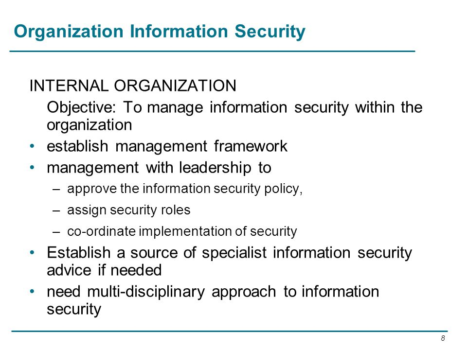 Organization Information Security