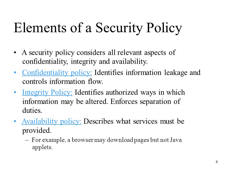 CS Computer Security And Information Assurance Ppt Download - Confidentiality policy template