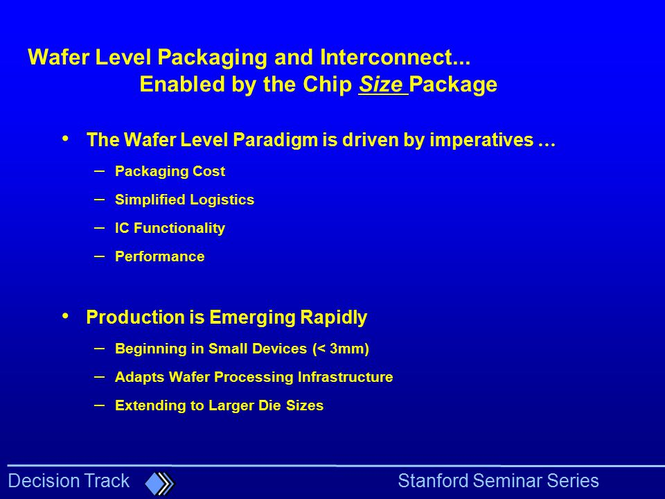 Enabled by the Chip Size Package
