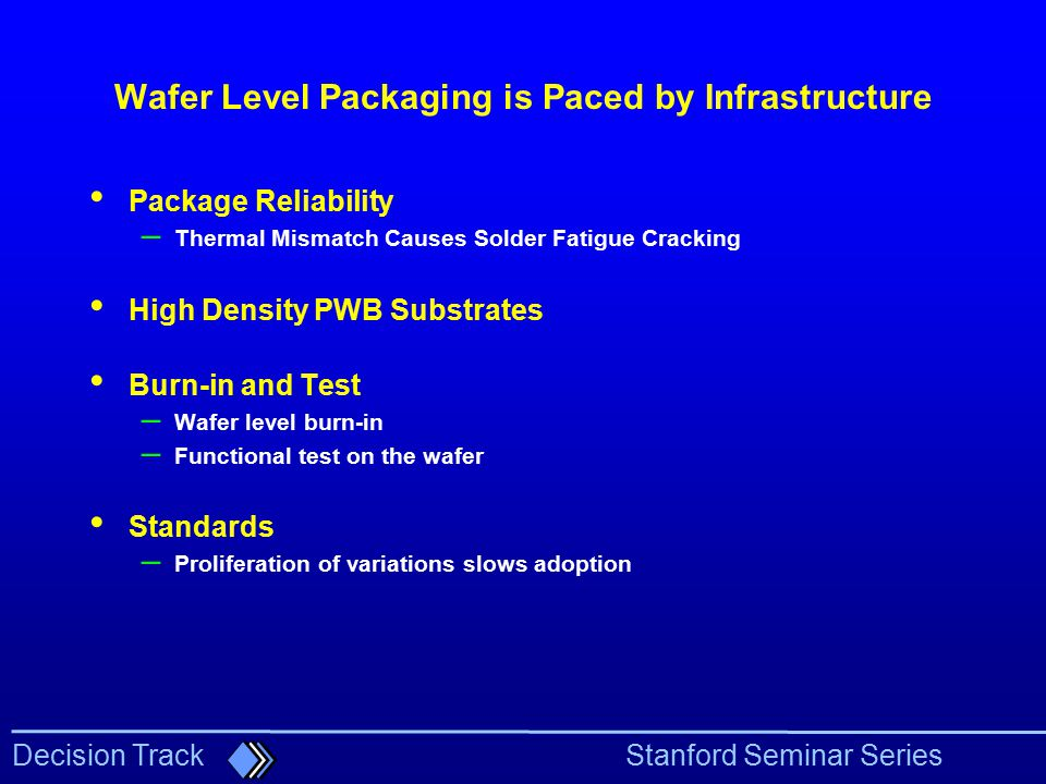 Wafer Level Packaging is Paced by Infrastructure
