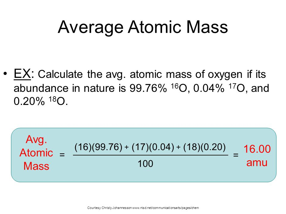 C isotopes mass atomic ppt video online download 7 average urtaz Image collections