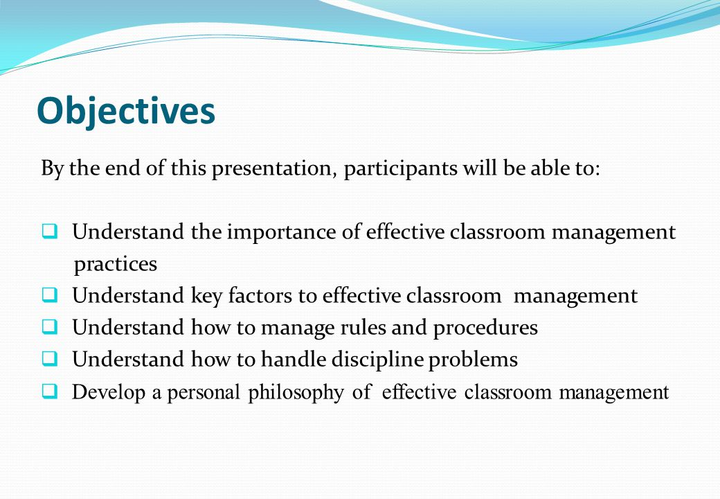 importance of classroom management