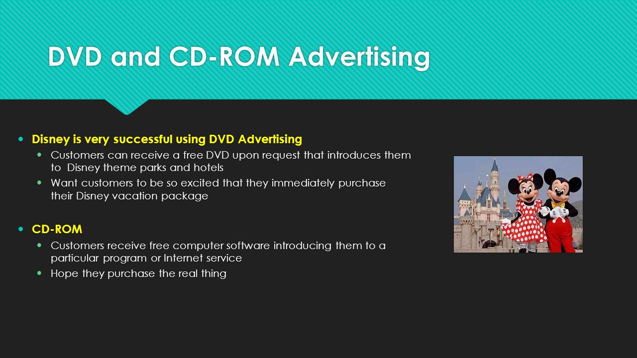 DVD and CD-ROM Advertising
