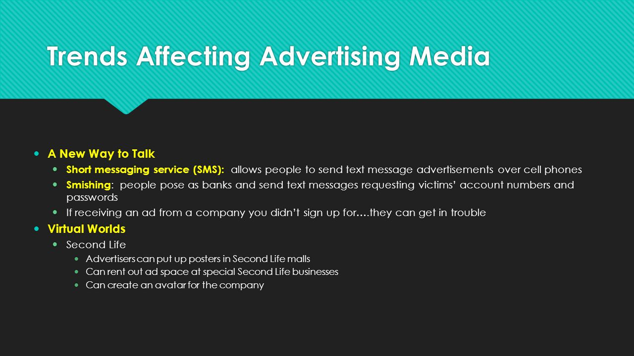 Trends Affecting Advertising Media