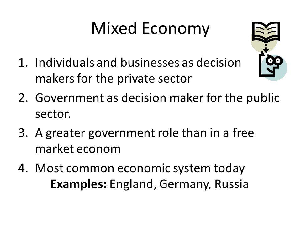england mixed economy