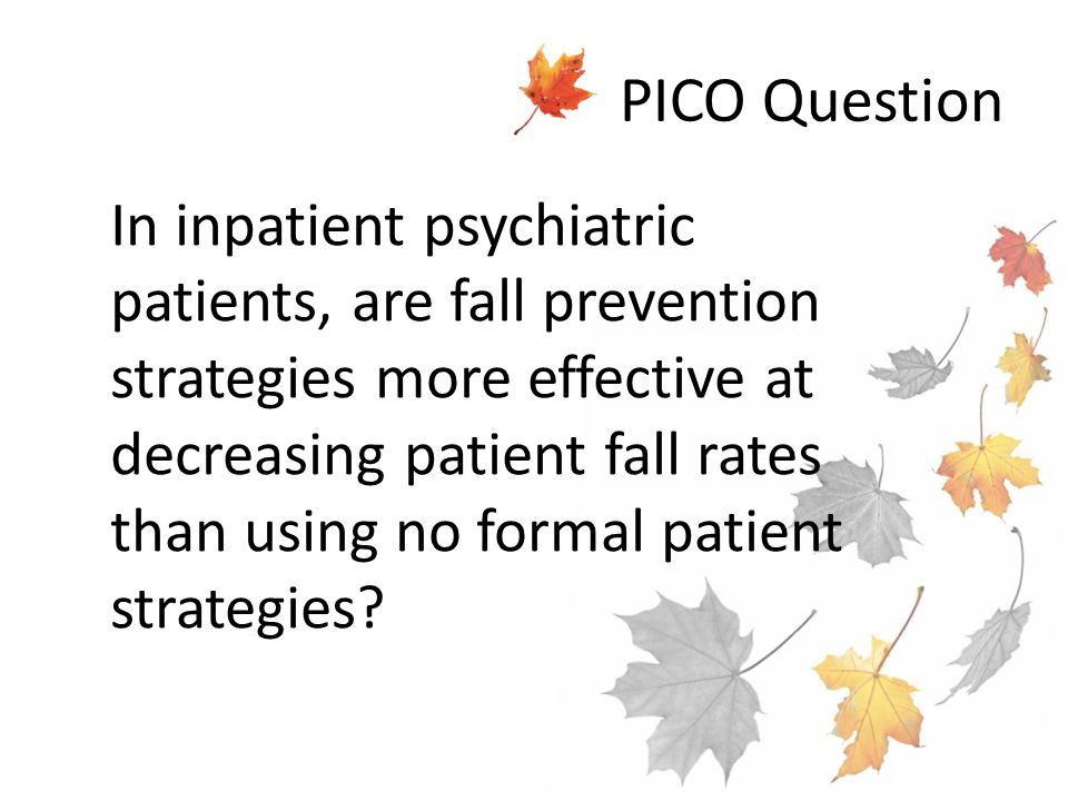 Pico nursing research paper.