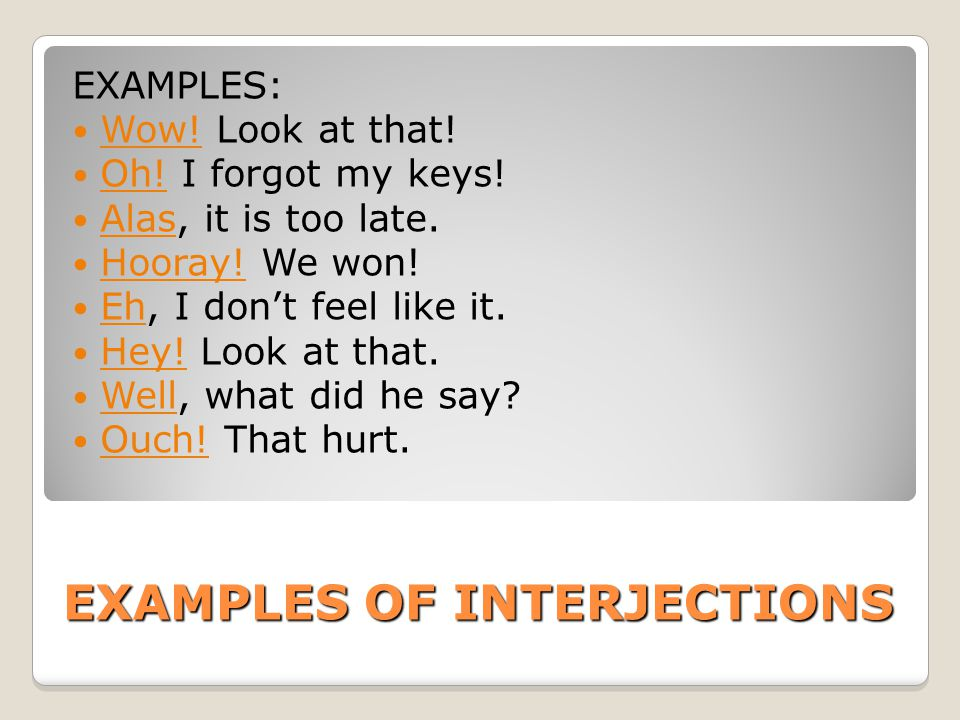 Interjections Examples Images Example Cover Letter For Resume