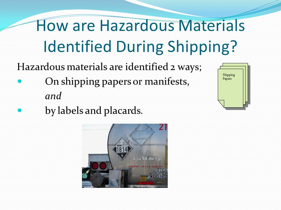 How are Hazardous Materials Identified During Shipping