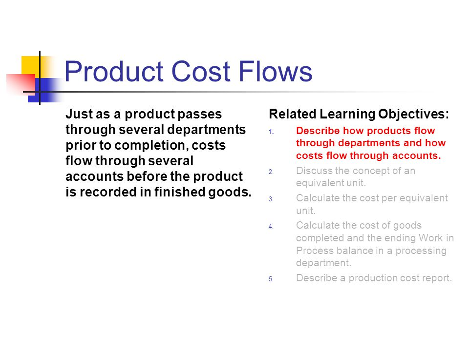 Product Cost Flows