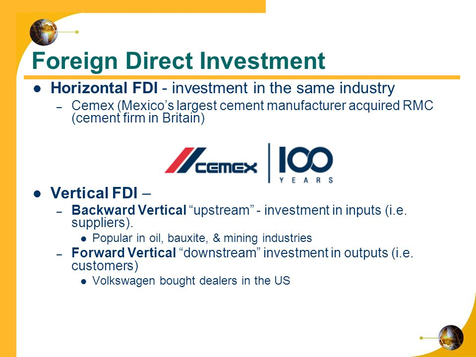 Foreign direct investment definition and example of imagery lateral investment banking interview process